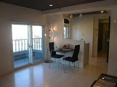 第三宮庭マンション 落ち着きのあるリビング・ダイニング・キッチン