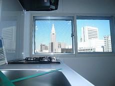 第三宮庭マンション キッチンからの眺望