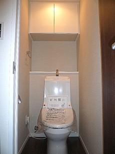 中銀築地マンシオン ウォシュレット付トイレです。
