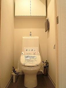 トーア新富マンション ウォシュレット付トイレです。