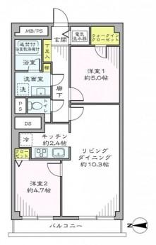 西新宿ハウス 間取り501