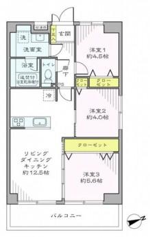 田町スカイハイツ 間取り図 101
