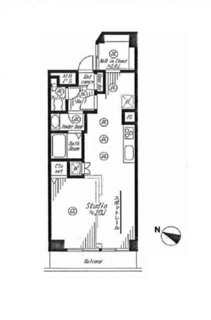 クレベール西新宿フォレストマンション 間取り図