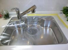 シンクの水栓は浄水器内蔵型