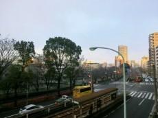 新目白通り側のバルコニーからの眺望