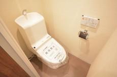 朝日白山マンション ウォシュレット付きトイレ