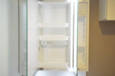 三田富洋ハイツ 3面鏡の裏は一面収納