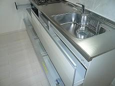 システムキッチン スライド式収納