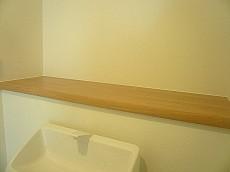 ウォシュレット付トイレ カウンター部分