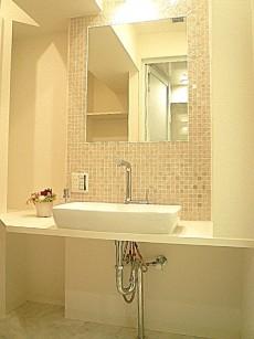 ホテルのような洗面化粧台。