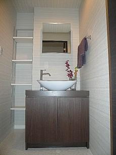 洗面化粧台+収納棚