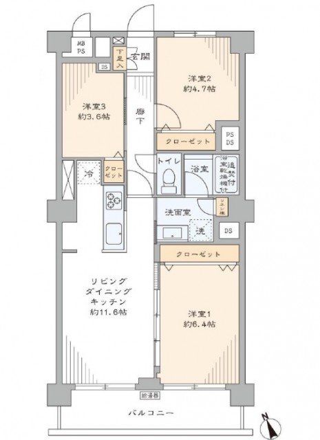日商岩井本郷マンション 間取り図
