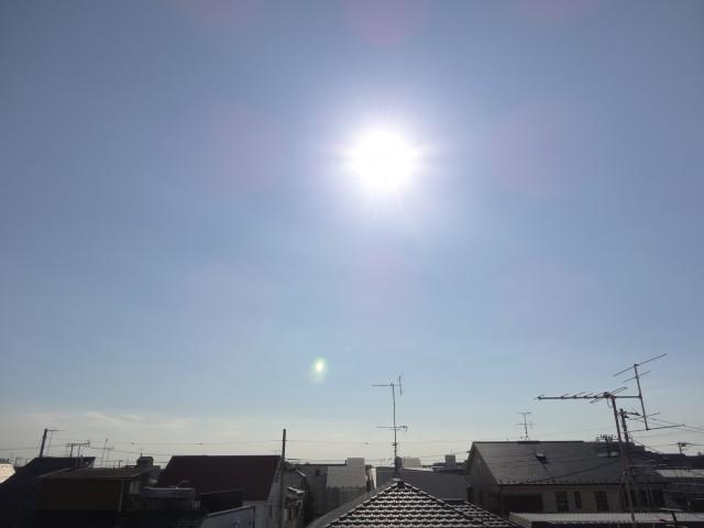 太陽も正面に見えますよ