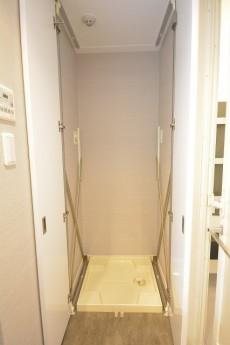 大崎南パークハウス 扉付きの洗濯機置場