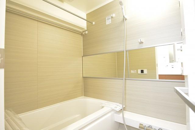 浜町グランドハイツ 追い焚きと浴室換気乾燥機能付きバスルーム
