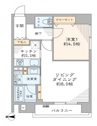 セイワパラシオン笹塚 間取り図