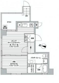 ミオカステーロ目黒都立大Ⅱ 1LDK+W 間取り