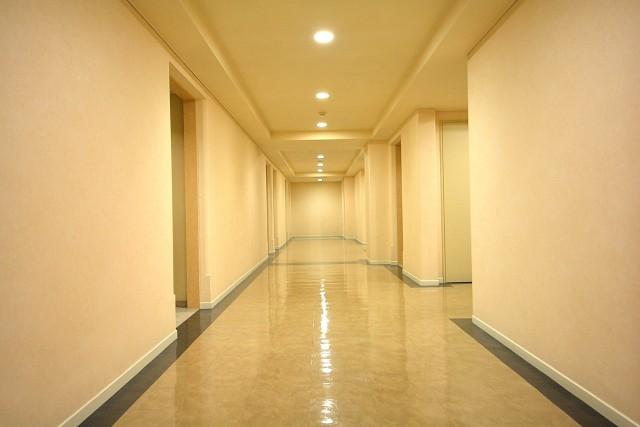 レジオン白金クロス 共用廊下