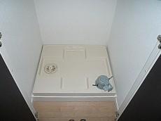 ニックハイム中目黒 洗濯機置き場です。