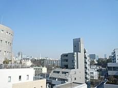 ニックハイム中目黒 共用部廊下からの眺望