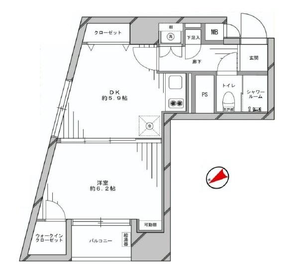 ローレル三田 間取図