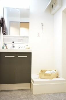大森西サンハイツ 洗面化粧台と洗濯機置場