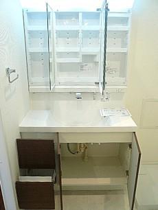 多摩川芙蓉ハイツ 洗面化粧台の収納