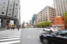ハイライン第2芝虎ノ門 駅前交差点