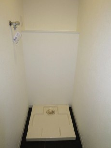 洗面化粧台となりに洗濯機置き場