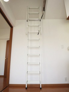 スカーラ四谷 ロフトに上がる梯子