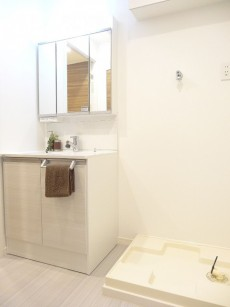 日本橋ニューシティダイヤモンドパレス 洗面化粧台と洗濯機置場