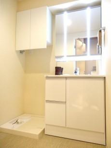 ライオンズマンション半蔵門 洗面化粧台と洗濯機置場