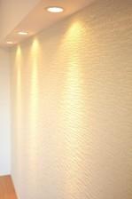 柿の木坂パレス 6.0帖のベッドルームのアクセントクロス