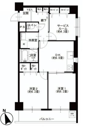 五反田サニーフラット 図面