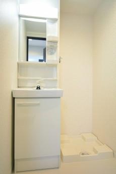 マンション池尻 洗面化粧台と洗濯機置場