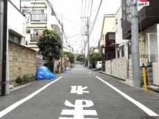 柿の木坂コーポ 前面道路