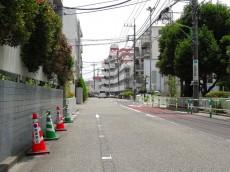 砧フラワーマンション 前面道路