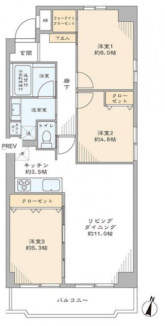 東中野パークマンション 間取り図