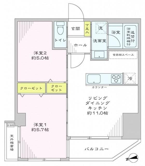 サンパークマンション高田馬場 間取図