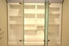 大井町ハウス 三面鏡の裏は一面収納