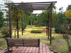 シーアイマンション駒場 敷地内庭園