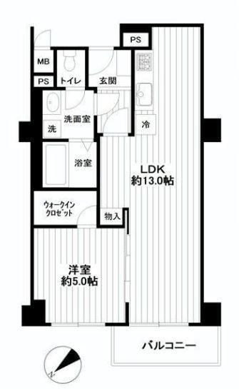 ロイヤルハイツ三田 間取り図