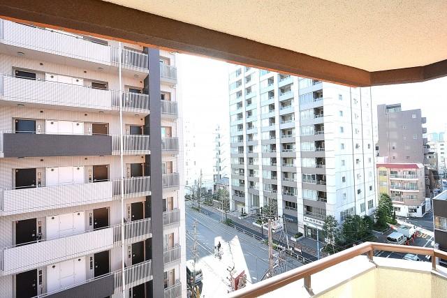 朝日江戸川橋マンション 4.0帖洋室のバルコニー眺望