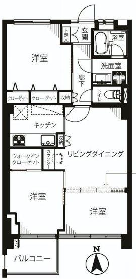 ガーデン堀ノ内住宅 間取り図