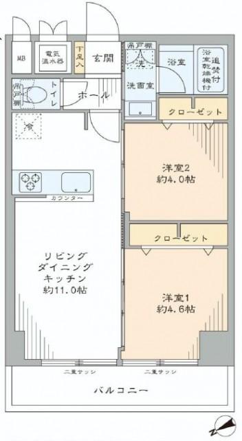 クレール三田 間取り図