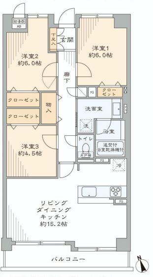 サンマンションアトレ新宿戸山  間取り図