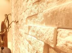 黎明マンション 石貼りの壁