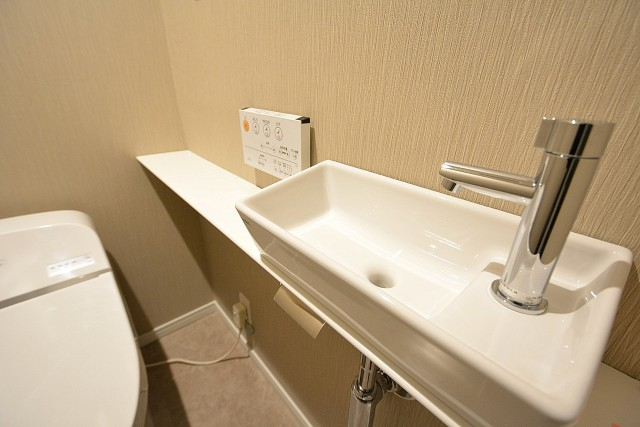 ライオンズマンション乃木坂 トイレの手洗いカウンター