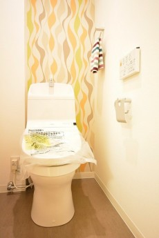 玉川スカイハイツ ウォシュレット付きトイレ