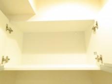 セザール白金 洗濯機置場上の戸棚